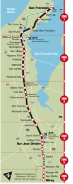 Caltrain map