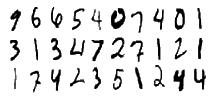MNIST database numbers