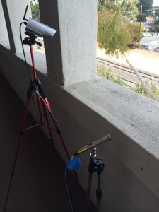 We set up audio and video capture on our office porch, right next to the tracks.
