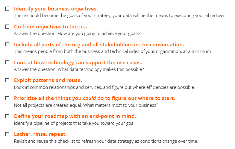 Data strategy checklist