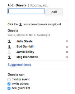 Optional attendee screenshot