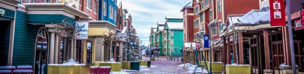 Street in Park City, Utah