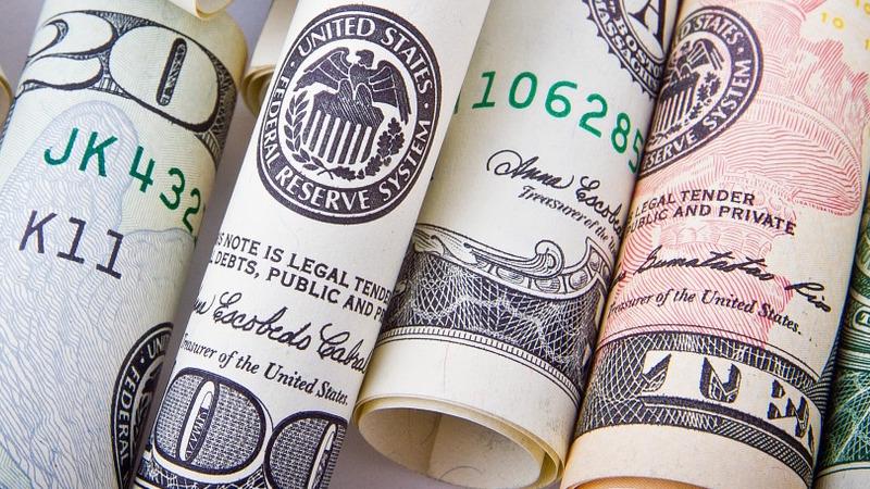 Dollar bills for fintech